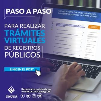 Trámites Virtuales - Cámara de Comercio del Cauca