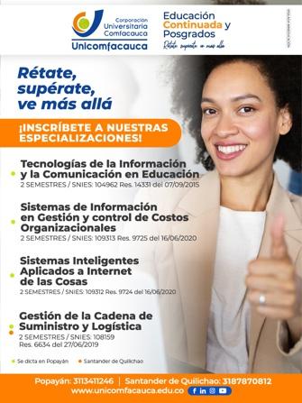 Unicomfacauca - Educación Continuada y Posgrados