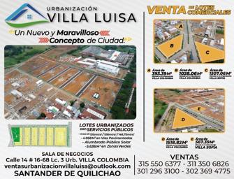 Venta de Lotes - Urbanización Villa Luisa - Santander de Quilichao
