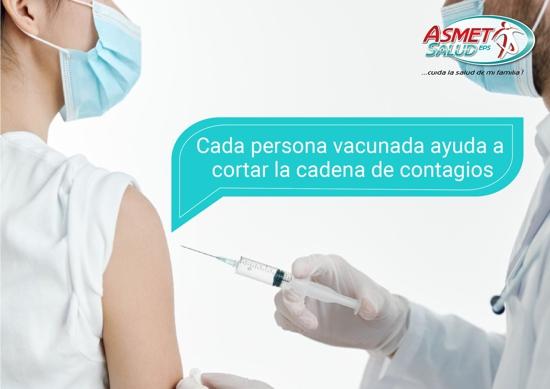 ¡Yo me vacuno, por mí, por ti y por todos! Asmet Salud