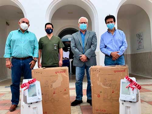 El Hospital Universitario San José recibió donación de equipos biomédicos