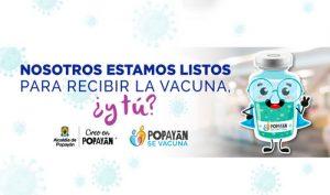 Inicia vacunación Covid-19 en Popayán