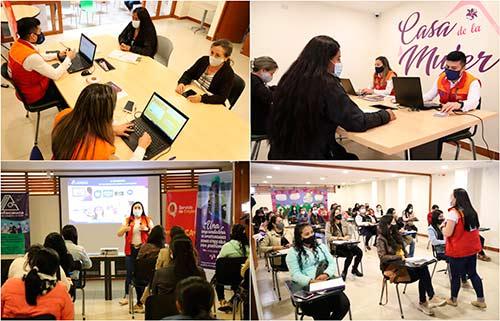 """Con gran éxito se realizó en la Casa de la Mujer, jornada """"Oportunidad laboral para mujeres"""""""