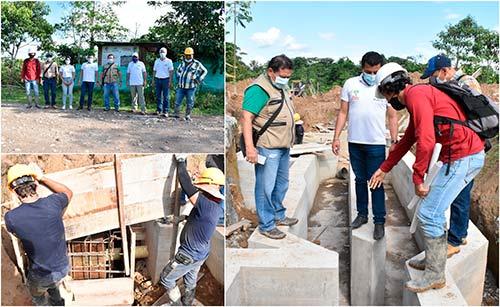 Emcaservicios visitó la obra de alcantarillado y Ptar en Piamonte - Cauca, la cual tiene una ejecución superior al 45%