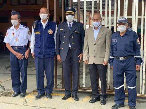 Bomberos de Puerto Tejada conmemoran su aniversario No. 56