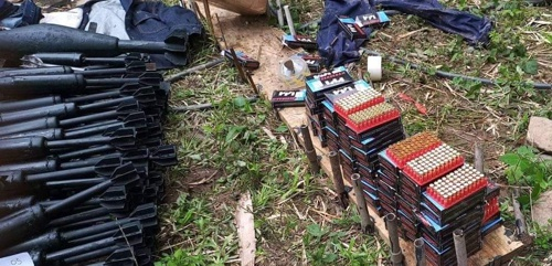 Desmantelan arsenal de guerra en el norte del Cauca