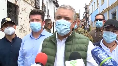 """""""El cobarde siempre tiene como arma el terrorismo"""": Presidente Duque, desde Corinto."""