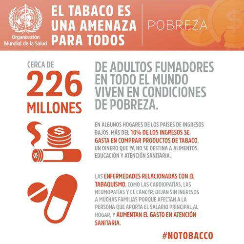El tabaco es una amenaza para todos - OMS