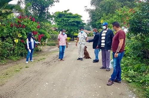 Estudian pavimentación de un tramo vial en Las Brisas en Puerto Tejada