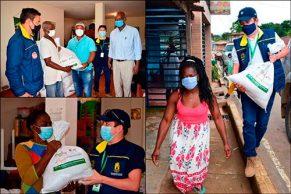 Entrega de Kits de asistencia alimentaria en Buenos Aires
