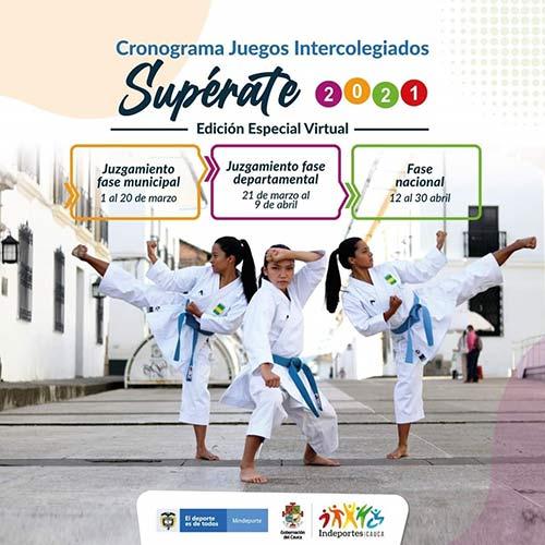 21 municipios caucanos participan de los Juegos Intercolegiados Supérate edición especial virtual 2020 - 2021