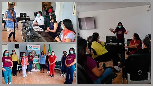 En el marco del 8M, la Secretaría de la Mujer del Cauca realizó sensibilización a funcionarios de la Administración Municipal de Timbío
