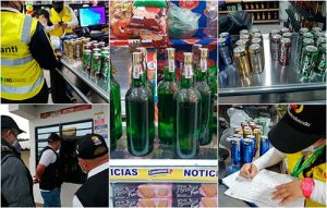 Se incautó licor de contrabando durante operativos nocturnos en Popayán