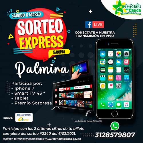 """""""Sorteo Express"""" de la Lotería del Cauca llega a Palmira, Valle del Cauca"""