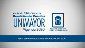 Rendición Virtual de Cuentas UNIMAYOR, vigencia 2020