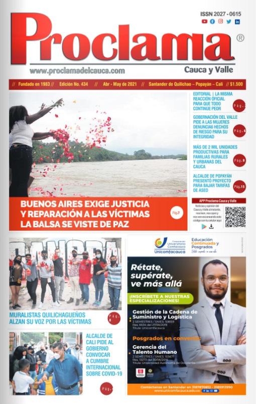 En circulación Edición Impresa #433 de Proclama Cauca y Valle.