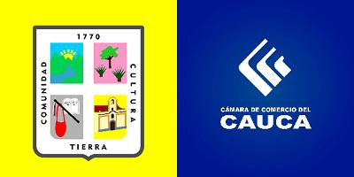 Escudo de Jambaló y Cámara de Comercio del Cauca