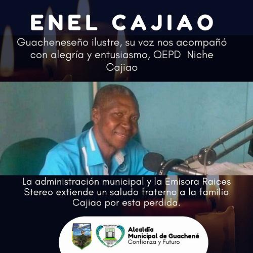 """Falleció el """"Niche Cajiao"""", locutor de Guachené."""
