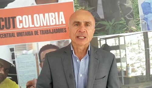 Francisco Maltés Tello, presidente de la Central Unitaria de Trabajadores—CUT