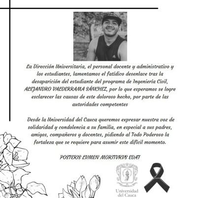 Fue encontrado sin vida Alejandro Valderrama