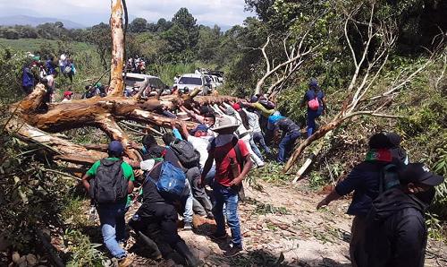 """Heridos a bala integrantes de """"Minga Indígena"""" en Caldono"""