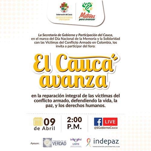 Invitación al foro en el marco del 09 de abril, Día de Conmemoración de las Víctimas del Conflicto Armado en Colombia