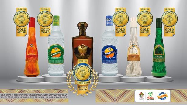 Licorera del Cauca ganó premios por la calidad de sus productos en Bélgica