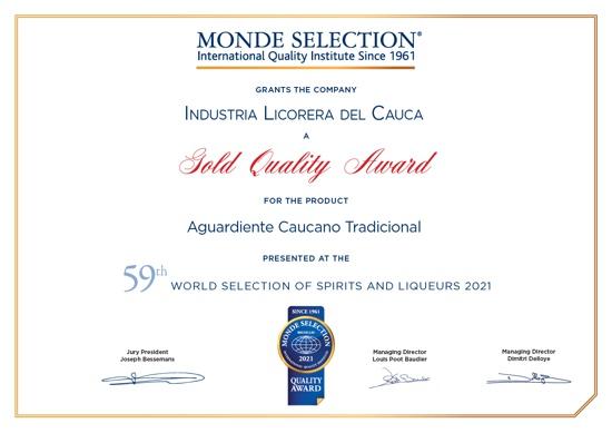 Industria Licorera del Cauca ganó premios por la calidad de sus productos en Bélgica