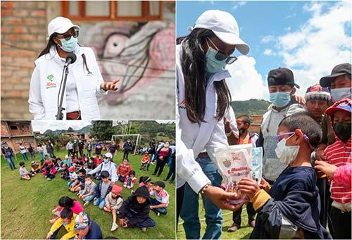 La gestora social del Cauca hace presencia en los territorios, entregando ayudas humanitarias y liderando acciones por el cuidado de la niñez