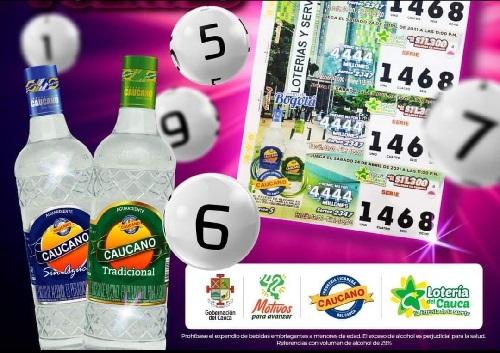 Marca Aguardiente Caucano saldrá impresa en los billetes de Lotería