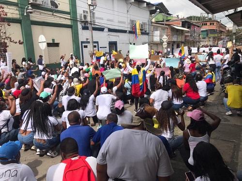 Puerto Tejada marcha en el Paro Nacional contra la Reforma Tributaria