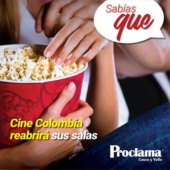 ¿Sabías que Cine Colombia reabrirá sus salas de cine?