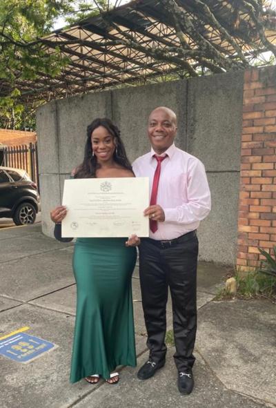 Valentina Abonía se graduó como nueva Ingeniera Civil