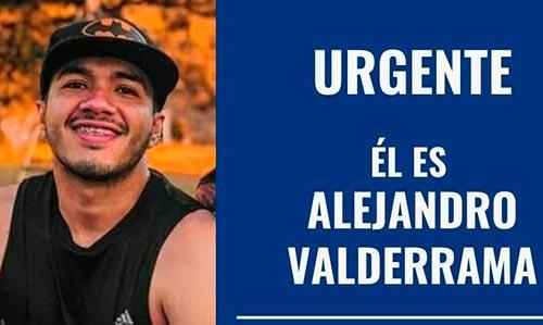Continúan las labores de búsqueda de Alejandro Valderrama