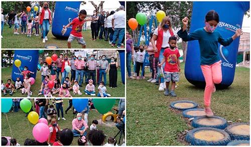 Administración Municipal inaugura el mes de la niñez con la entrega de parque infantil
