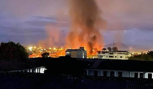 Caos total en Popayán por enfrentamientos con la Fuerza Pública