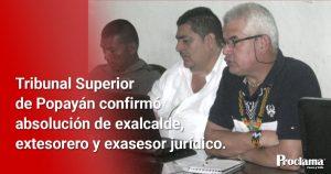 Confirmadas absoluciones judiciales a exfuncionarios de Caloto