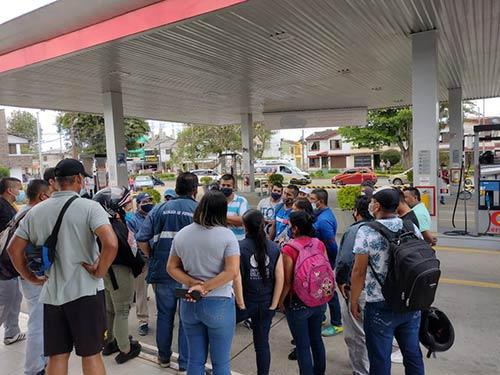 Controles a las jornadas de abastecimiento de combustible en Popayán