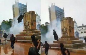 Derribaron estatua de Antonio Nariño en Pasto