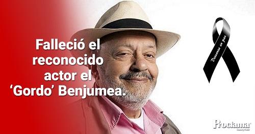 Falleció el Gordo Benjumea