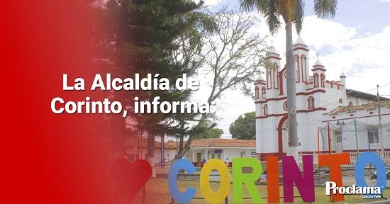 La Alcaldía de Corinto informa