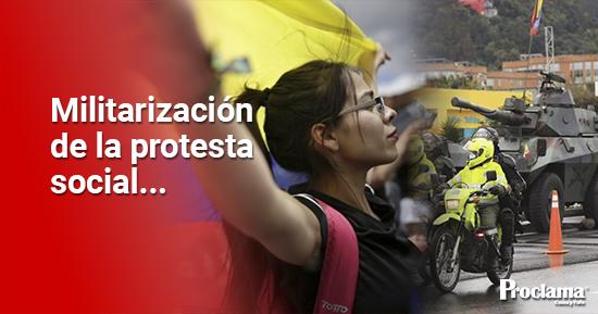 La militarización del Valle busca ahogar la protesta social