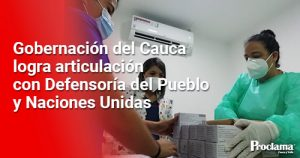Llegaron 34 mil vacunas contra Covid al Cauca