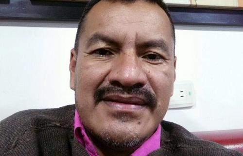Nelson Lemus quién acompaña la Comisión Política de la Minga Nacional
