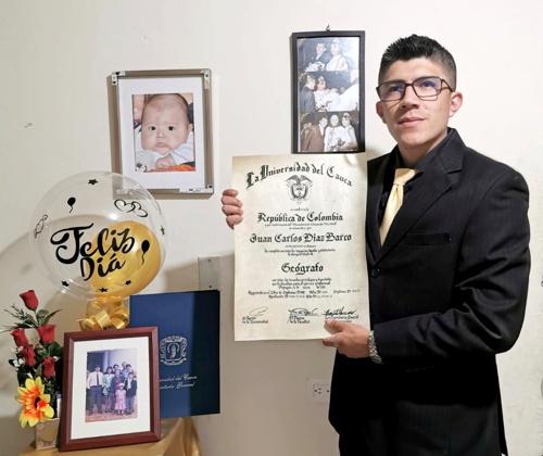 Nuevo Geógrafo de la Unicauca se graduó en Popayán - Juan Carlos Díaz Barco
