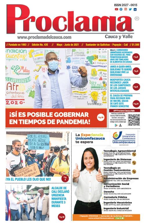 Portada - Edición Impresa #435 de Proclama Cauca y Valle