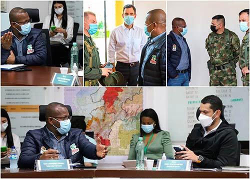 Se llevó a cabo Consejo de Seguridad en el Departamento del Cauca, con presencia del Ministro del Interior Daniel Palacios
