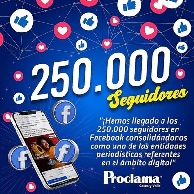 Proclama escala cifras récord en redes sociales