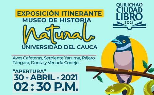 Con una exposición itinerante del Museo de Historia Natural, Unicauca apoya la Feria del Libro de Santander de Quilichao