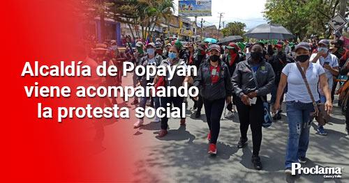 Alcaldía de Popayán acompaña las diferentes manifestaciones pacíficas